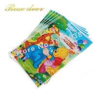 500pcs Lot Winnie The Pooh Theme Party Gift Bag Party Decoration Plastic Candy Bag Loot Bag