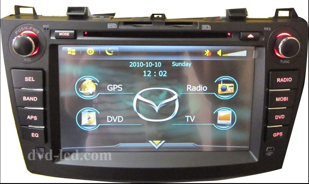 wholesale 2010 2011 2012 mazda 3 car dvd gps players navigation system bluetooth ipod hd lcd win. Black Bedroom Furniture Sets. Home Design Ideas