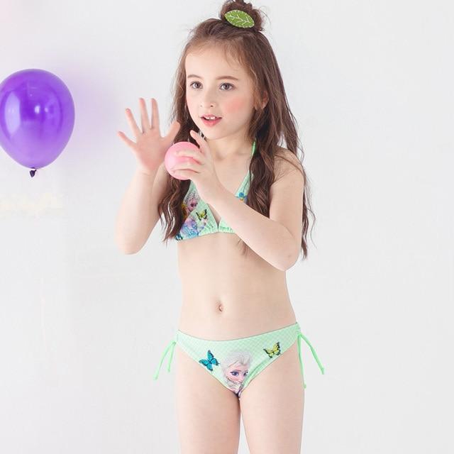 Bikini com girl in piece two