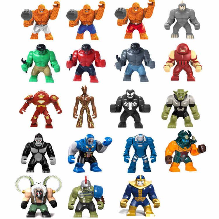 Супер герой 7 см большой размеры Bane Халк Бастер зеленый носорог яд Джаггернаут танос Бесконечность Gauntlet legoing строительные блоки детские игрушки