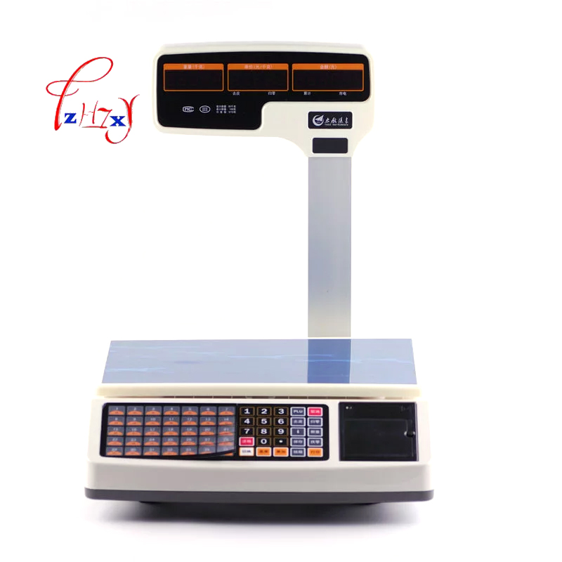 commercial electronic digital price Barcode Label Printing Scale Electronic price scale computing scales English version