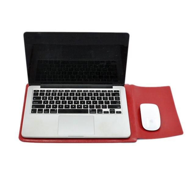 Сумка для ноутбука из микрофибры с кожаными рукавами для lenovo Thinkpad X1 углерода Йога 14 дюймов двойной карман с наружным откидным Мышь Pad