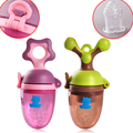 Baby Teether Training Device Filter Mesh Silica Gel Bag Nipple Type Baby Food Supplement Tool