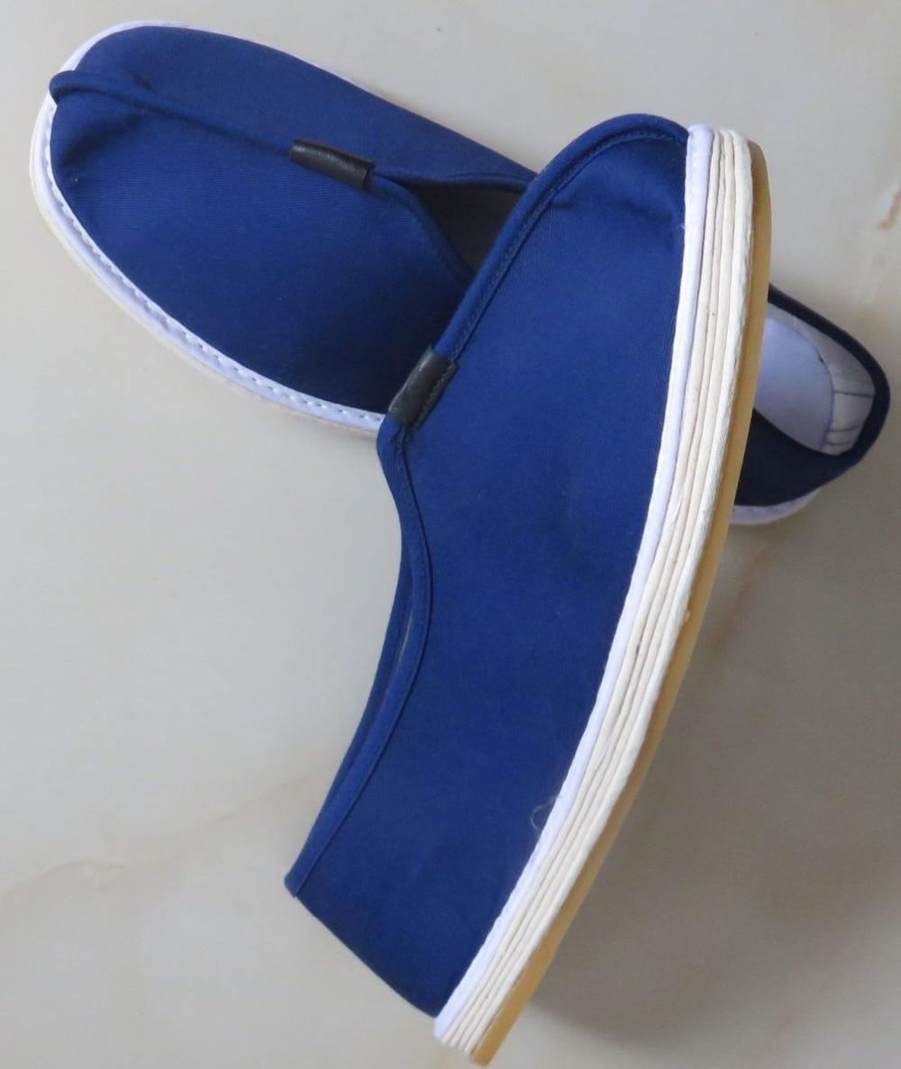 UNISEX 5color Handmade tai chi brown/black/blue kung fu martial arts training shoes buddhist shaolin monks lay meditation shoes