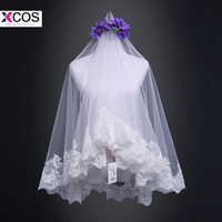 New Arrival 2018 Lace Applique Tulle Short Wedding Veils Cheap Fingertip Bridal Veil Wedding Accessories
