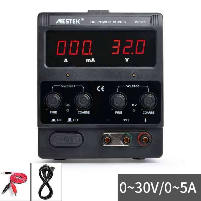 220V Adjustable DC power supply Digital display ammeter Laptop phone repair power 30V 5A DP305 Y four digit display rps3003c 2 adjustable dc power supply 30v 3a linear power supply repair