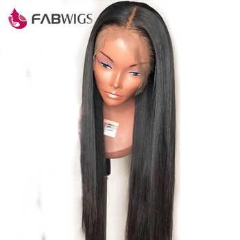 Fabwigs 13 × 6 深部レースフロントかつらブラジルストレートレースフロント人毛ウィッグかつらとかつらの Remy 毛