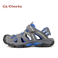 Clorts Free Shipping PU Mesh Sandals Spring Summer Beach Sandals Outdoor Casual Sandals For Men Army