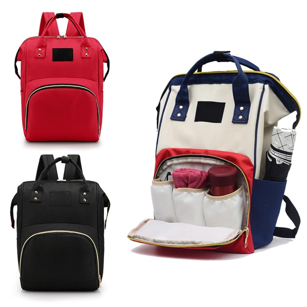 Mummy Maternity Nappy Bag Baby Care Diaper Large Capacity Waterproof Diaper Bag Travel Backpack Stroller Hooks Nursing Bags