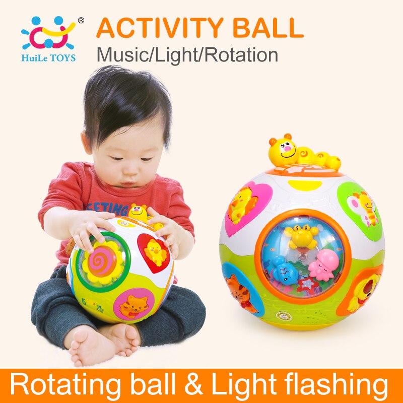 HUILE игрушки 938 Игрушки для маленьких малышей ползать игрушка с музыкой и светом научить Форма/номер/животного Дети раннего обучение Обучающ...