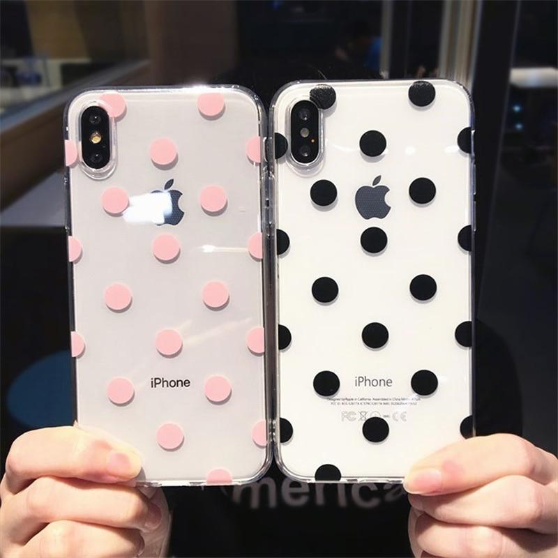 Aliexpress.com : Buy Cute Polka Dots clear TPU phone Cases
