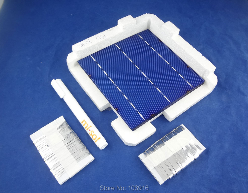 40 PCS POLY 6X6 DIY KIT for solar panel, solar cell, Flux Pen, Tabbing Bus wire. крючки vmc 7106 bn 10шт карповые 4