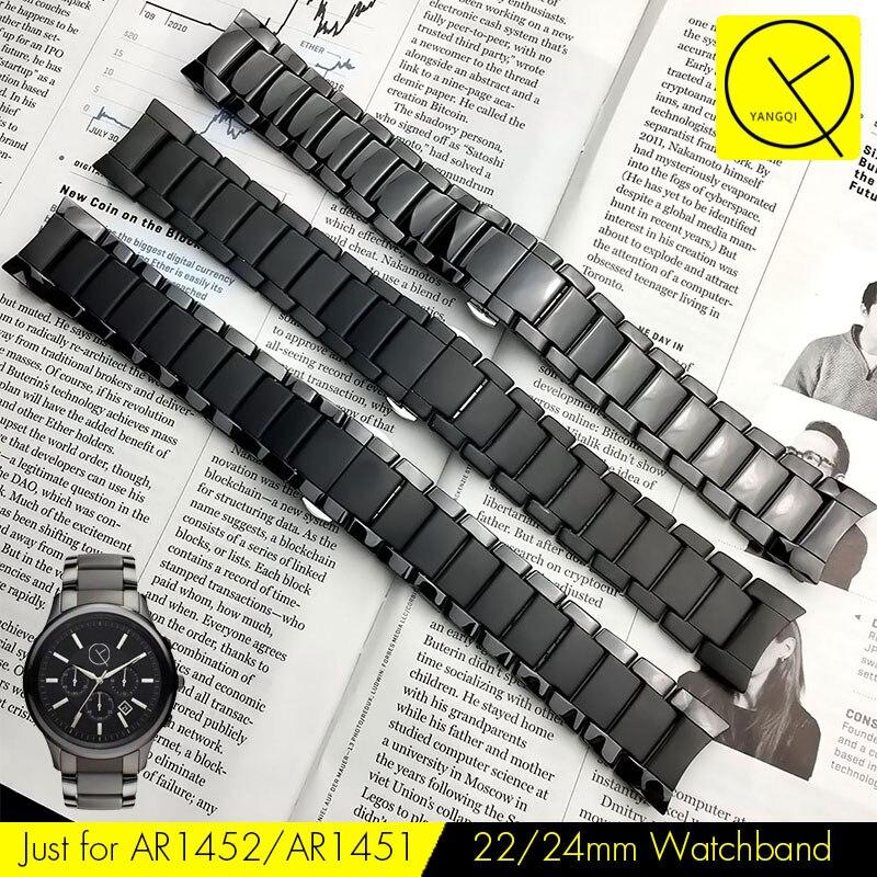 9bb5f1c2b6bbc ... Armani 22mm AR1452 24mm AR1451 Assista Borboleta Pulseira Fivela  Acessórios Cinta Engrenagem s3 em Pulseiras de relógio de Relógios no  AliExpress.com ...
