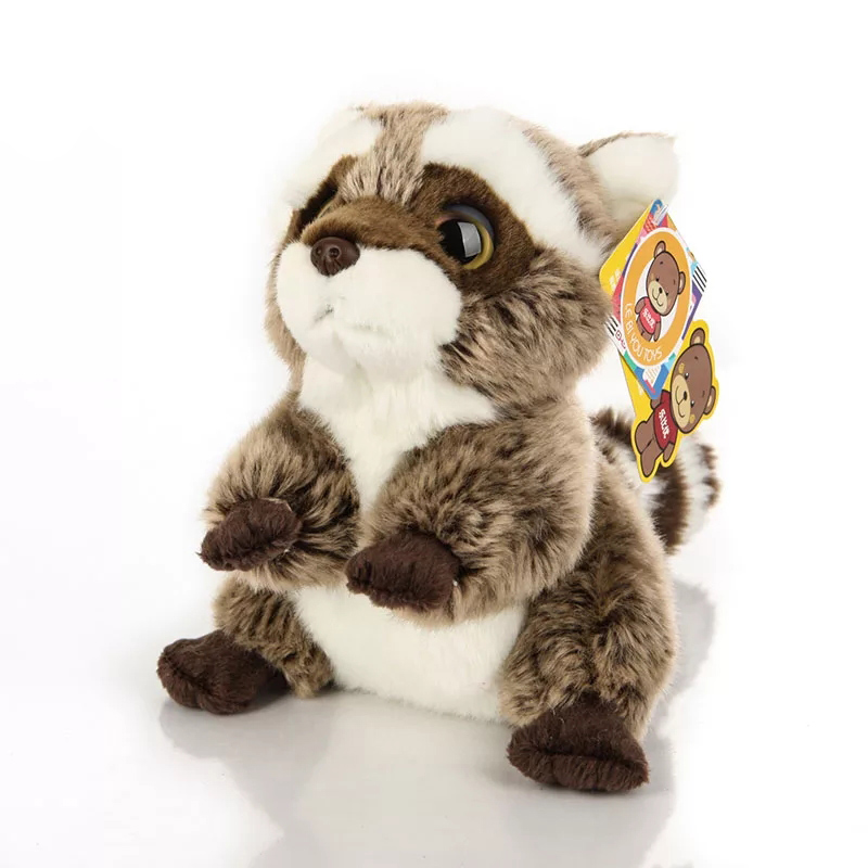 US $12 99 49% OFF|Free Shipping 18CM Lovely Small Racoon Plush Toys Dolls  Stuffed Animal Toys For Children Kids Toys Christmas & Birthday Gifts-in