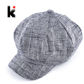 Womens fashion octagonal hat newsboy cotton and linen mixing beret autumn and winter hats for women popular design casual cap