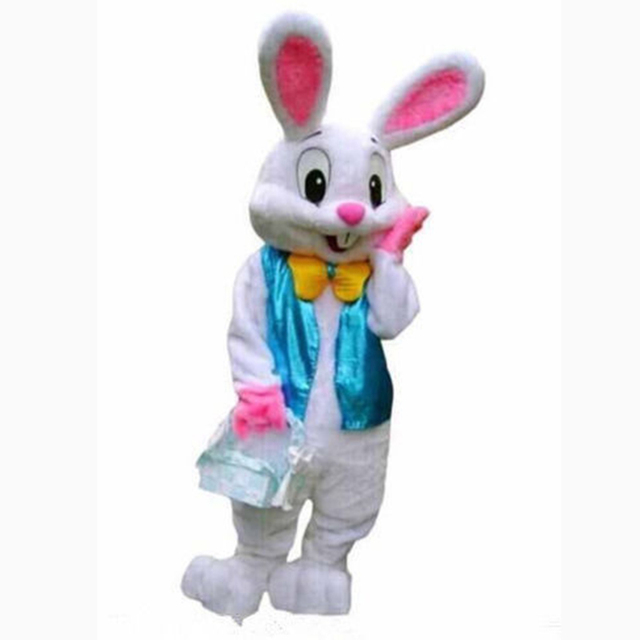 2019 New Easter Bunny Mascot Costume Rabbit Cartoon Fancy Dress Adult Size