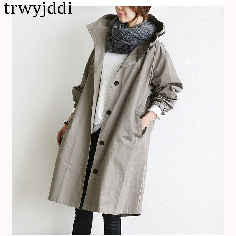 Nueva gray Rompevientos Prendas Invierno Gabardina De Grande Femenina Tops  2018 Coat Outerwear 3xlhl309 Ropa Sudadera Abrigos Black Abrigo Capucha  Largo ... 36e035b029fd