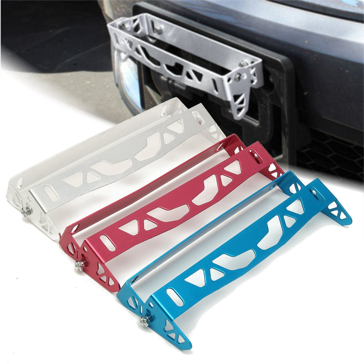 Number Plate Power Racing License Plate Frames Tag Holder For Honda ...