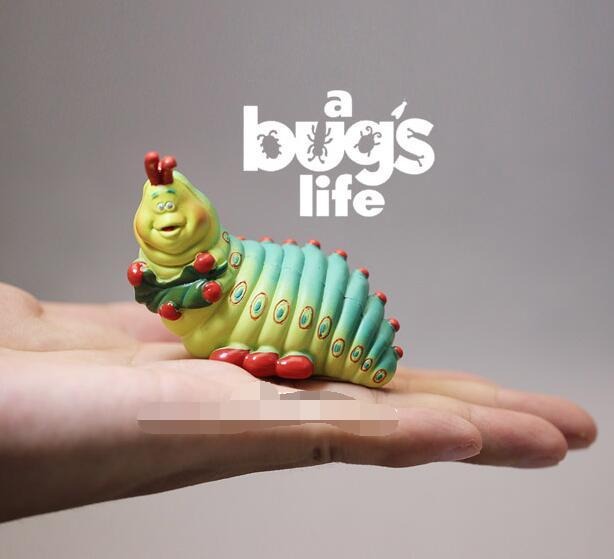 24pcs lot 7cm Original a Bug s life Caterpillars Action Figures Toys 7CM Colorful PVC Bug