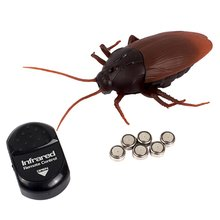 Infrared Remote Control Mock Fake Cockroach RC Toy Prank Insects Joke Scary Trick Bugs for Party