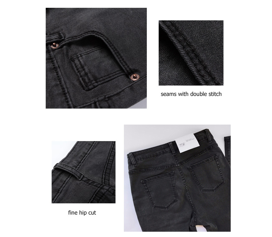 Women's High Waist Jeans Skinny Jeans Woman Plus Size Black Mom Jeans Femme Pencil Denim Pants Vaqueros Mujer Spodnie Damskie 15