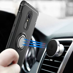 Image 1 - finger ring holder phone case for xiaomi 6 6x for redmi Note 5 4X 3s 3Pro 6 6x  Hybrid Magnetic Bracket Cover car TPU free ship