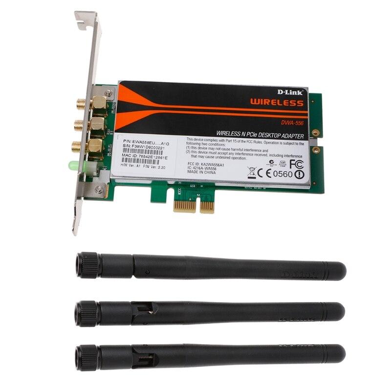 DWA-556 bezprzewodowy Xtreme N PCI-E pulpit Adapter WiFi karty niski profil Sep-27B