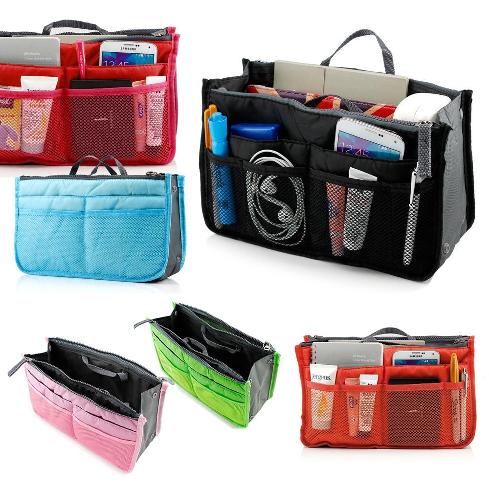 купить Multifunction Travel Packing Organizers Women Cosmetic Bags For Make Up Nylon Toiletry Kits Makeup Bags Large Liner Handbag по цене 366.51 рублей