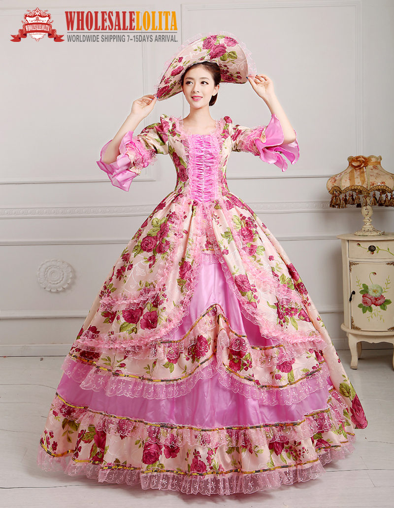Victorian Gothic Georgian Period Dress Ball Gown Prom Reenactment Clothing