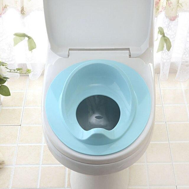 Çocuklar Yürümeye Başlayan Tuvalet koltuk minderi Plastik Bebek Banyo Lazımlık tuvalet eğitimi koltuğu Kapağı