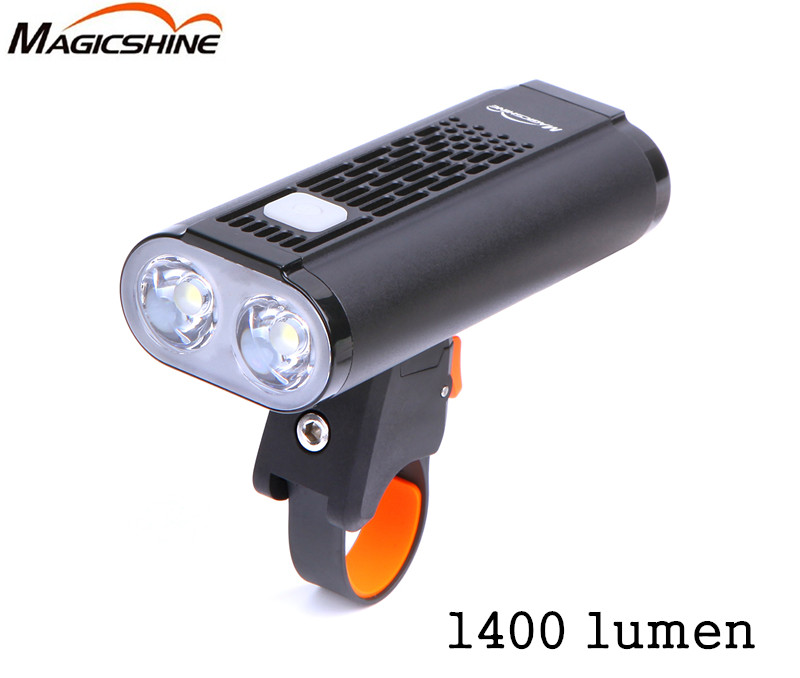 Mago americano Monteer 1400 Luz de bicicleta USB carga compatible MTB bicicleta de carretera linterna ciclismo impermeable Faro de bicicleta