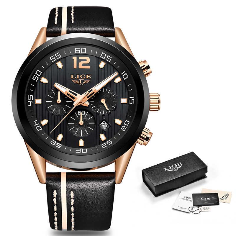 קוורץ שעון גברים ליגע למעלה מותג יוקרה עור Mens שעונים אופנה מקרית ספורט שעון עמיד למים שעון יד Relogio Masculino