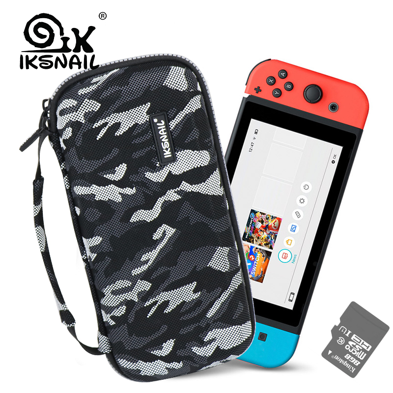 IKSNAIL Nintend Switch Game Storage Bags EVA Protective Hard Case For Nintendo Console Joy-Con and Other Tiny Accessories
