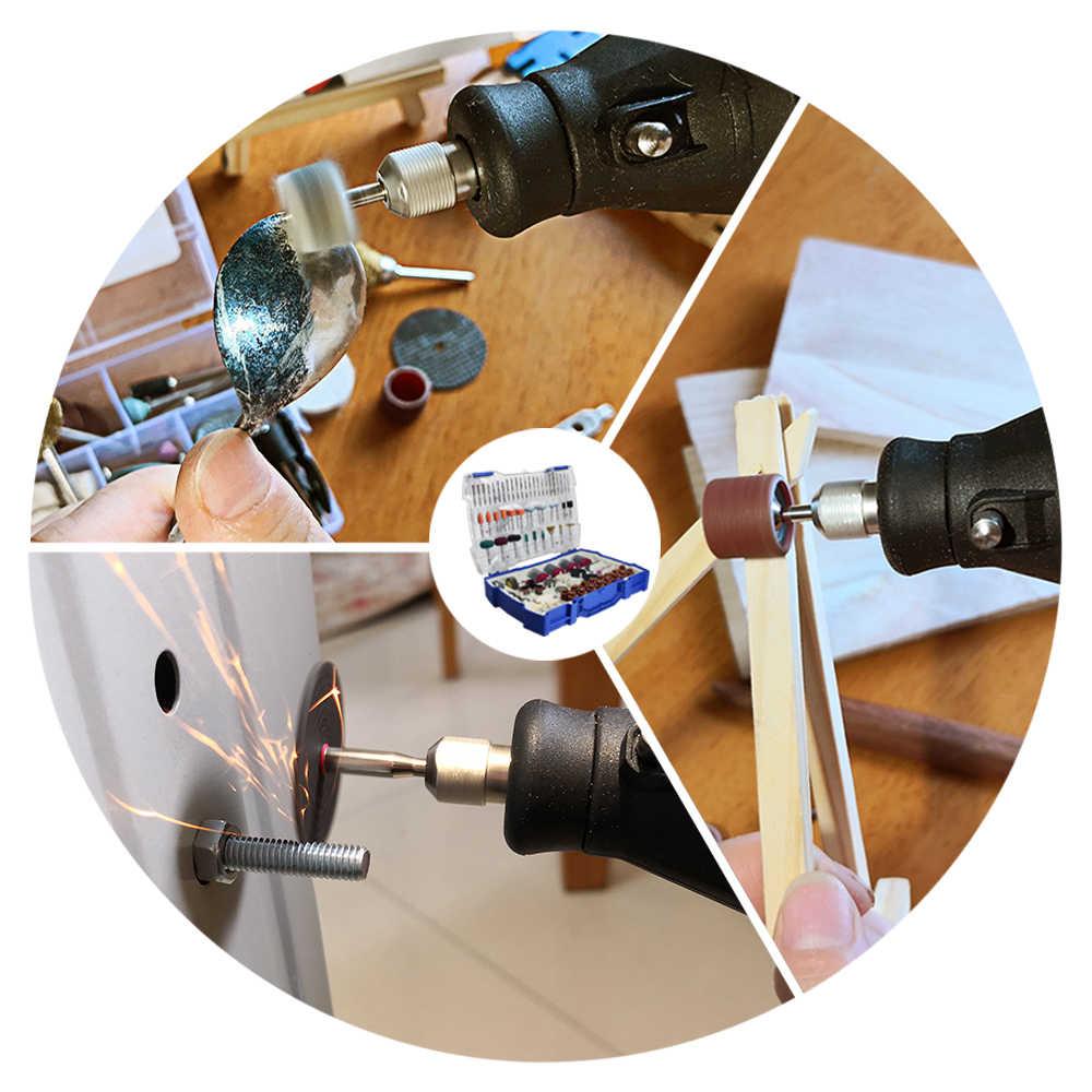 268 pièces Mini jeu de forets Dremel Style outil rotatif accessoires Kit abrasif meulage ponçage polissage outils de coupe pour Diyer