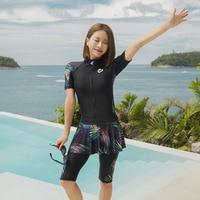 Swimsuit For Teenagers Women 2019 Rash Guard Rashguard Swimwear Clothing Diving Sport Skirt Short Long Sleeve Sexy New Korea