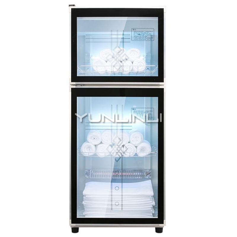 180L Towel Disinfection Cabinet Vertical Type Double-door Disinfecting Cabinet Larger Capacity Towel Sterilizer YTP180B-1