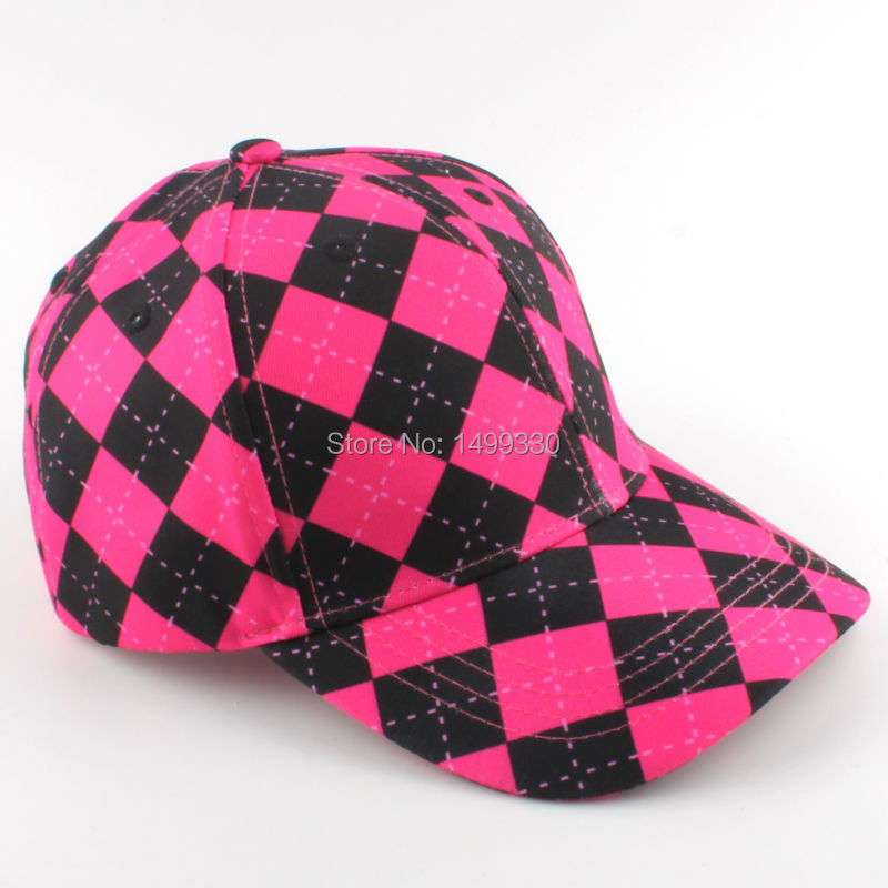 Free Shipping New Geometric Golf Hat Baseball Visor Hat Cap Classic Cut Golf  Caps Pink Black-in Golf Caps from Sports   Entertainment on Aliexpress.com  ... 765a0f68077