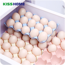4 Color Kitchen Egg Storage Box Plastic Organizer Refrigerator Storing 24 and 15 Eggs Container Racks