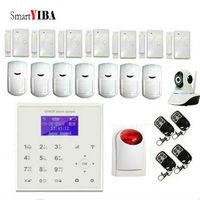 Smartyiba Wi Fi gsm gprs сигнализации Системы Камера устройства наблюдения с красная сирена, строб обнаружения движения двери Сенсор сигнализации