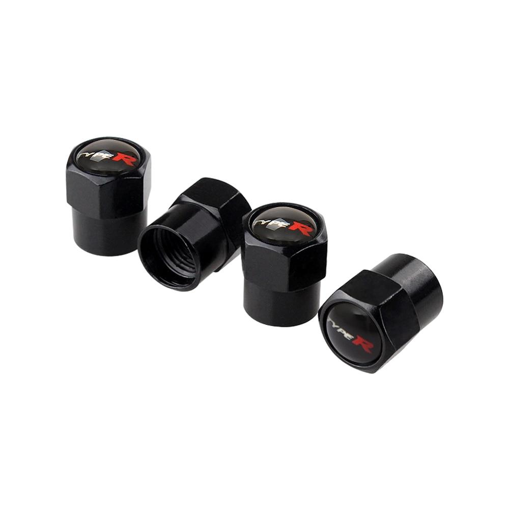 Goquik Voiture Accessoires pneus Valve Cap for Honda Accord Civic CRV Fit HR-V vezel Odyssey Flux Crider Greiz Aper/çu Elysion Spirior CRZ Color : Black Mugen