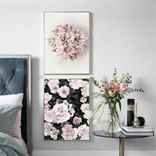 Wall Art Canvas Painting Pink Flower Pop Nordic Posters And Prints Pictures For Living Room Girl Bedroom Salon Decor