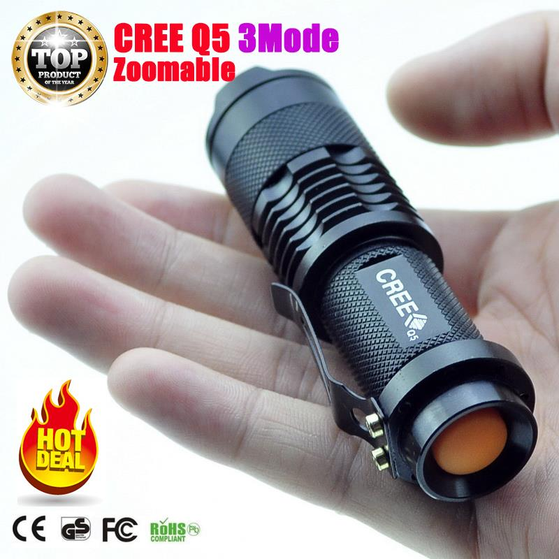 Mini LED Flashlight ZOOM 7W CREE 2000LM Waterproof Lanterna LED 3 Modes Zoomable Torch AA 14500 battery Flashlight Linterna led free shipping cree 2000lumens waterproof led flashlight 3 modes mini zoomable led torch penlight lanterna