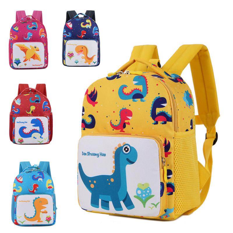 Children Bag Toddler Anti-lost School Bag Cute Dinosaur Cartoon Print Backpack