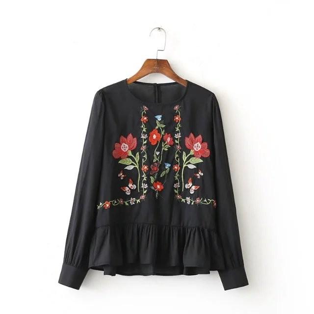 HTB1e1NZOFXXXXaGXpXXq6xXFXXXB - 2017 Spring Women Vintage Flower Embroidery Casual Shirts