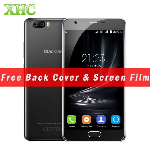 Blackview A9 Pro 16GB Cellphone Dual Rear Cameras 5.0''Android 7.0 MTK6737 Quad Core RAM 2GB 2500mAh Fingerprint Mobile Phone
