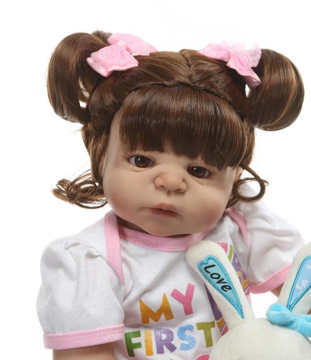 Oyuncaklar ve Hobi Ürünleri'ten Bebekler'de NPK 56 CM Tam Vücut silikon Kız Yeniden Doğmuş Bebekler Bebek Banyo Oyuncak Gerçekçi Yenidoğan Prenses Bebek Bebek Bonecas Bebes Reborn menina'da  Grup 3
