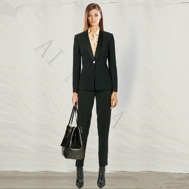 Office Uniform Designs Women Formal Pant Suits For Weddings Evening Party High Quality Custom