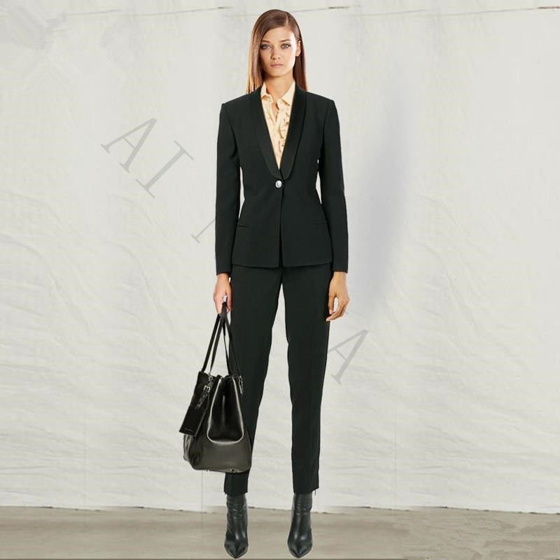 Office Uniform Designs Women Formal Pant Suits for Weddings Women Evening Party Suits High Quality Custom Made 2 Piece Set New