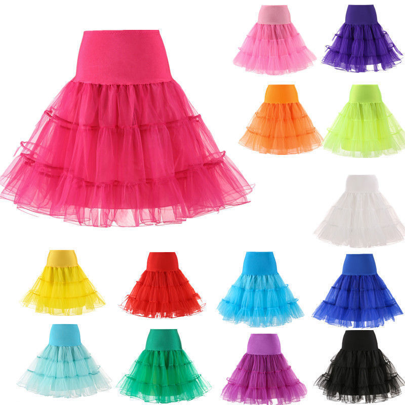 New Hot Sale Short Petticoat For Wedding Vintage Cosplay Tulle Petticoat Crinoline Underskirt Rockabilly Swing Tutu Skirt