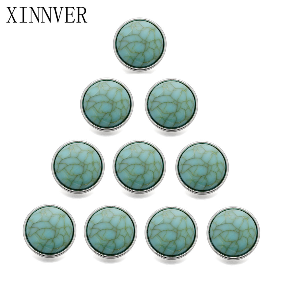 10pcs/lot New 12mm 18mm Snap Button Jewelry Stone Mini Metal Snap Buttons fit 12mm18mm Snap Bracelet Bangle Earrings Necklaces image